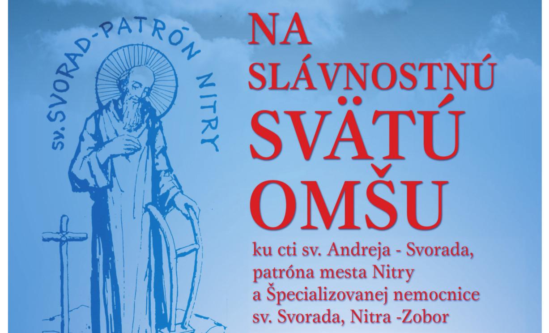 a62b1f2333d17 SV. SVORAD - PATRÓN NITRY - Kam v meste | moja Nitra